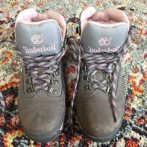 Timberland Hiking Boots Gray/Pink sz 7 EUC!!